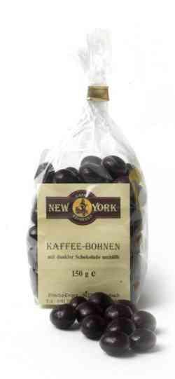 Caffé New York Kaffeebohnen in Zartbitterschokolade