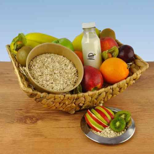 Kleine Vegane Porridge Auszeit mit Hafermilch