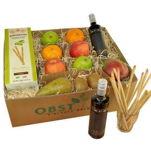 Geschenkbox Bree Red Merlot & Grissini Olivienöl