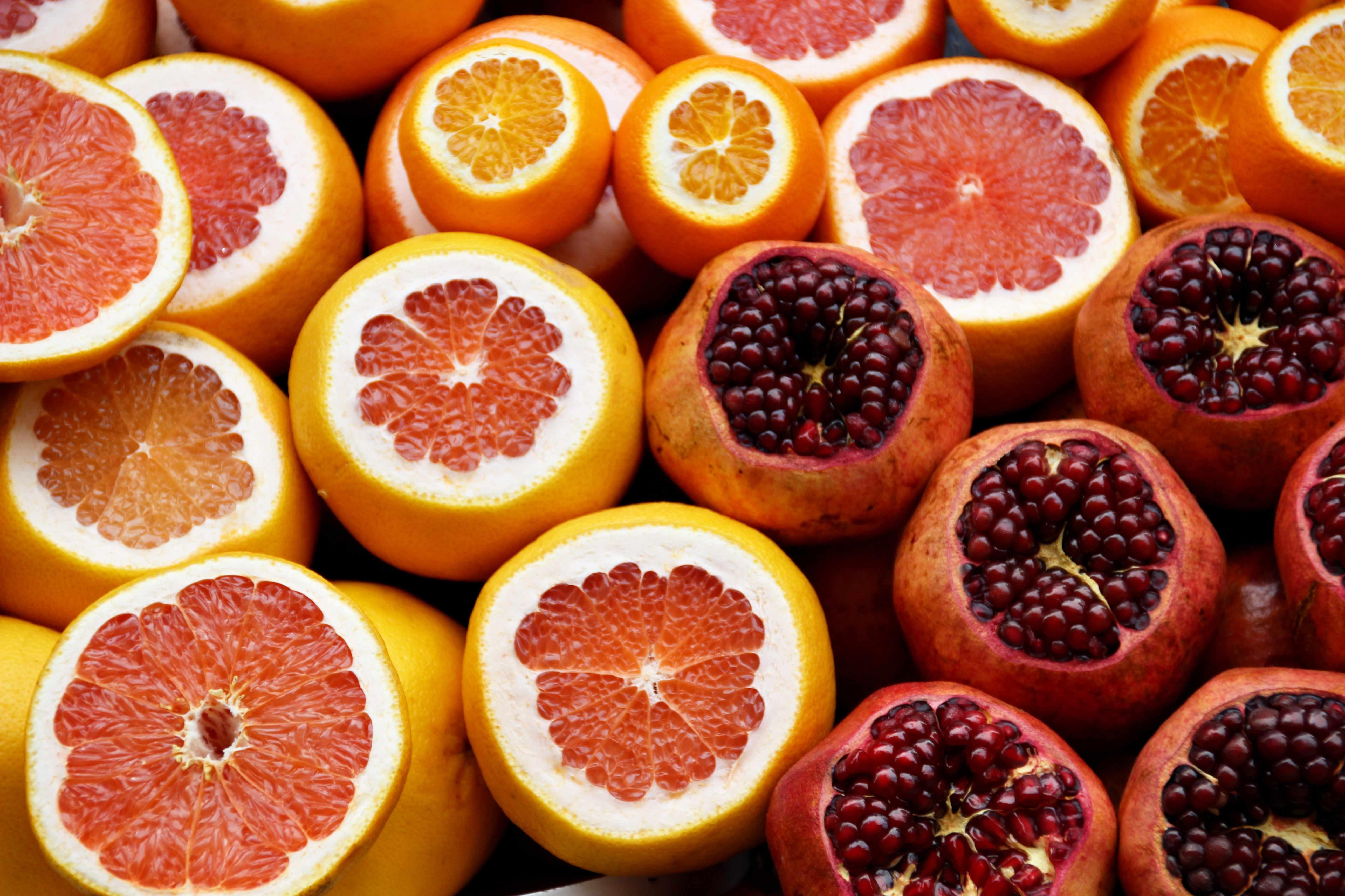 Fördernde Citrus-Früchte