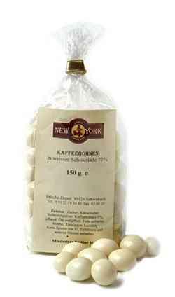 Caffé New York Kaffeebohnen in weißer Schokolade
